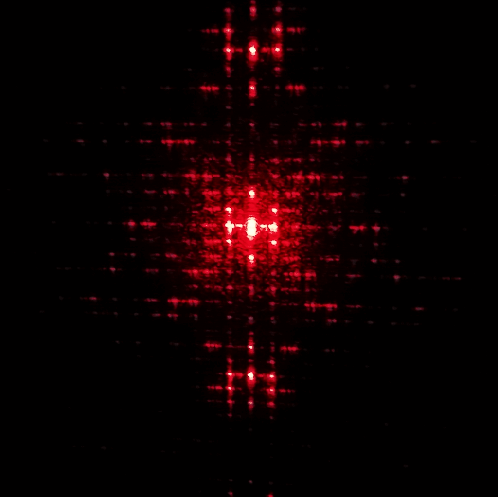 Diffraction Pattern for the Structure of DNA